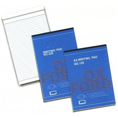 Oxford Super White High Quality Paper Writing Pad 單行簿